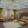 дизайн проект спальни на мансарде