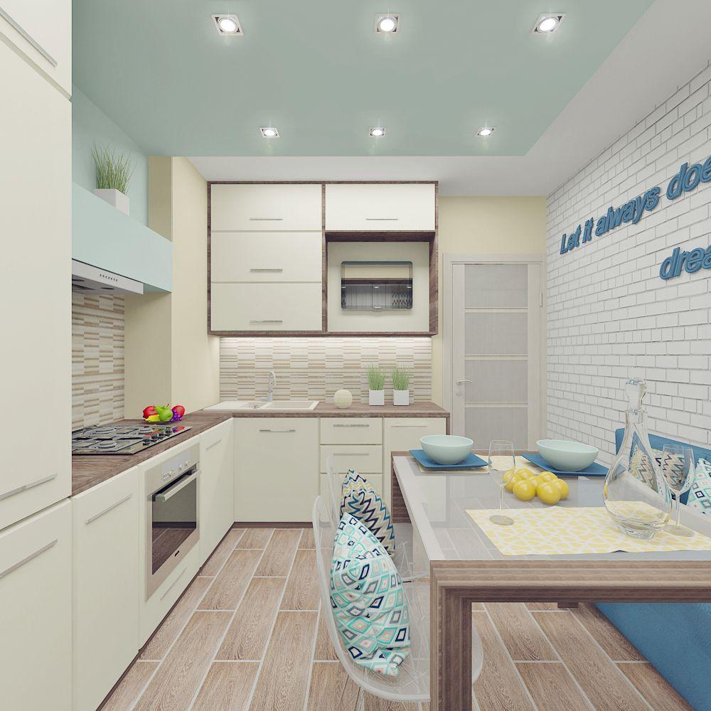 Дизайн кухонь однушек