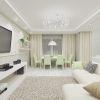 интерьер гостиной-столовой