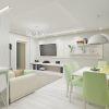дизайн проект гостиной в современном стиле