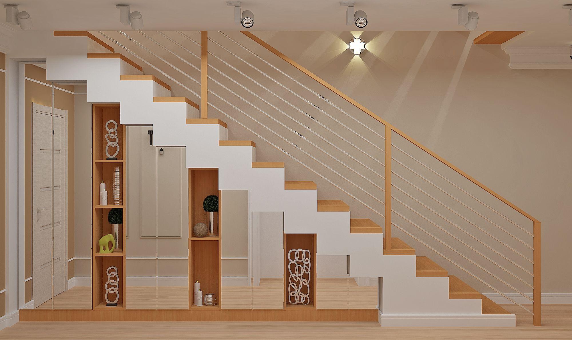 Интерьер под лестницей