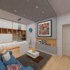 современный дизайн интерьера кабинета на двоих