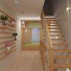 дизайн интерьера прихожей 2 этажа в коттедже