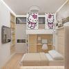 Интерьер спальни для взрослых и ребенка в однокомнатной квартире