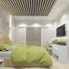 Дизайн интерьера спальной комнаты с ярким акцентом