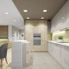 Дизайн интерьера кухни. Зонирование при помощи острова.