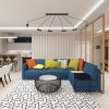 дизайн интерьера гостиной, дизайн зоны отдыха, современный стиль в интерьере, интерьер гостиной комнаты