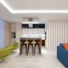 дизайн интерьера кухни, кухонный остров в интерьере, дизайн корпусной мебели, кофейная зона на лоджии