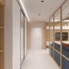 дизайн интерьера коридора, зонирования пространства при помощи перегородки, перегородка в интерьере.