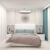 дизайн интерьера спальни, декоративный кирпич в интерьере, интерьер спальной комнаты.