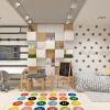 дизайн интерьера детской, детская в скандинавском стиле, детская для мальчика, интерьер детской комнаты, зонирование пространства в детской, фотопечать в интерьере, дизайнерская мебель