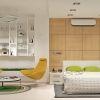 дизайн интерьера спальни, декоративные панели, дизайн зоны для чтения, интерьер в современном стиле