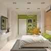 дизайн интерьера гостевой комнаты, интерьер в современном стиле, корпусная мебель в интерьере.