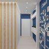 дизайн интерьера коридора, балки в интерьере.
