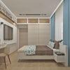 дизайн интерьера спальни, спальная комната в современном стиле, дизайн зоны хранения, антресоль в спальне