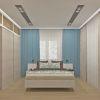 дизайн интерьера спальни, спальная комната в современном стиле, корпусная мебель в интерьере
