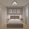 дизайн интерьера спальни, кровать Континенталь фабрики Эстетика, корпусная мебель в интерьере, интерьер спальной комнаты в пастельных тонах, дизайн корпусной мебели