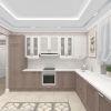 дизайн кухни, интерьер кухни-гостиной,дизайн зоны тв, камин в интерьере, гостиная в классическом стиле