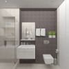 дизайн интерьера ванной комнаты, интерьер санузла, душевая кабина в ванне, плитка керама марацци.