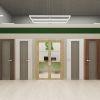 дизайн общественного интерьера, дизайн интерьера торговой точки, интерьер салона дверей, двери Юкка, ВДНХ экспо Уфа.