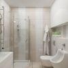 дизайн интерьера ванны, интерьер ванной комнаты, плитка керама марацци, интерьер санузла, современный дизайн ванны.
