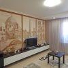 дизайн интерьера гостиной, интерьер гостиной, роспись стен, дизайн гостиной