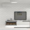 дизайн интерьера гостиной, интерьер гостиной, дизайн гостиной, дизайн-проект гостиной, декоративный кирпич в интерьере, электрокамин, корпусная мебель в интерьере, зона тв, зона камина, дизайн камина.