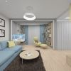 Аквариум в интерьере, Дизайн рабочей зоны в гостиной.