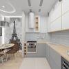 Дизайн интерьера кухни-столовой. Фотопечать в интерьере.