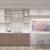 дизайн гостиной,дизайн интерьера гостиной, интерьер гостиной в современном стиле, зона тв, тумба тв, рабочая зона, рабочий стол в гостиной, барная стойка, световой дизайн, корпусная мебель в интерьере, обеденная зона, фотопечать в интерьере