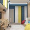 дизайн интерьера детской, интерьер детской комнаты, комната для мальчика, фотопечать в интерьере, корпусная мебель в интерьере, дизайн интерьера комнаты подростка
