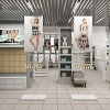 дизайн-проект магазина, дизайн интерьера бутика одежды, интерьер магазина одежды, проект салона одежды.