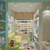 дизайн комнаты для ребенка, интерьер детской комнаты, зонирование в детской