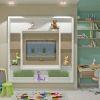 интерьер детской комнаты в современном стиле, зона отдыха, тв зона в детской