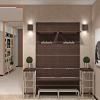 дизайн интерьера коридора в современном стиле, корпусная мебель в интерьере