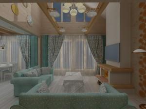 """Дизайн деревянного дома в стиле прованс """"В гостях у Бабушки"""""""