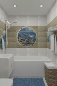 """дизайн интерьера ванной комнаты """"Движение"""""""