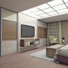спальная комната на мансарде