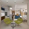 зона отдыха на лоджии, дизайн интерьера кухни-гостиной, кухонный остров в интерьере