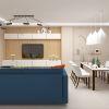 дизайн интерьера гостиной, дизайн столовой зоны, интерьер гостиной в современном стиле, дизайн зоны ТВ, корпусная мебель в интерьере