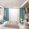 дизайн интерьера спальни, текстиль в интерьере, текстильный дизайн.