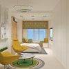 дизайн интерьера гостевой комнаты, интерьер в современном стиле, зонирование пространства в интерьере, корпусная мебель в интерьере,