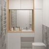 дизайн интерьера туалета, плитка в стиле пэчворк.
