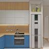 дизайн кухни, дизайн интерьера кухни, кухня в современном стиле, яркий интерьер кухни, дизайн корпусной мебели