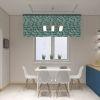 дизайн кухни, дизайн интерьера кухни, кухня в современном стиле, яркий интерьер кухни, дизайн корпусной мебели, обеденная зона на кухне