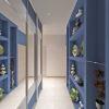 дизайн коридора, дизайн коридора в современном стиле, шкаф-купе в интерьере, встроенная мебель в интерьере, ниши в интерьере