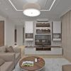 дизайн интерьера гостиной, интерьер гостиной в пастельных тонах, дизайн зоны тв