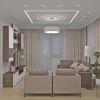 дизайн интерьера гостиной, интерьер гостиной в пастельных тонах, дизайн зоны тв, текстиль в интерьере