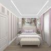 дизайн интерьера спальни, интерьер спальни в классическом стиле, фотопечать в интерьере,корпусная мебель в спальне