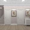 дизайн интерьера коридора, интерьер коридора в классическом стиле, зеркало в интерьере